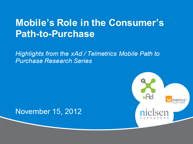 Mobile's Role in the Consumer Path to Purchase