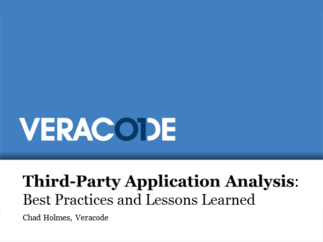 3rd Party Application Analysis: Best Practices and Lessons Learned