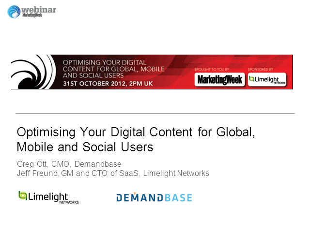 Optimising Your Digital Content for Global, Mobile and Social Users