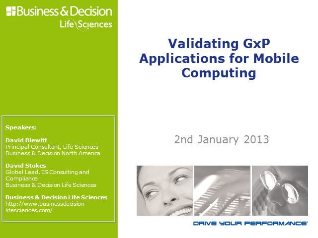 Validating GxP Applications for Mobile Computing