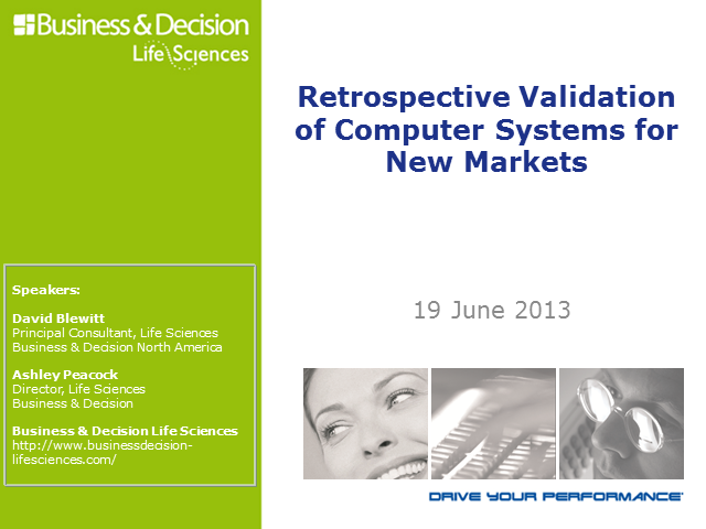 Retrospective Validation of Systems for New Markets