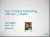 Content marketing: Half the time, twice the effect