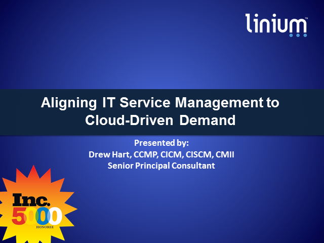 Aligning IT Service Management to Cloud-Driven Demand