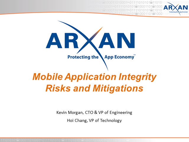 Mobile Application Integrity Risks and Mitigations