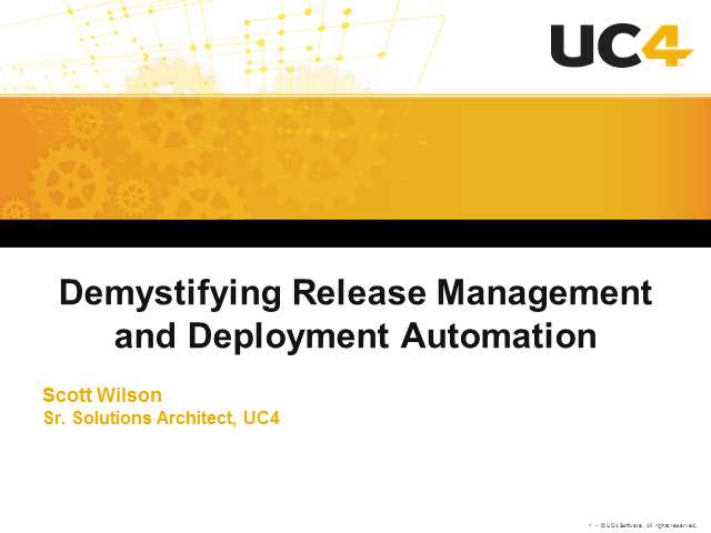 Demystifying Release Management and Deployment Automation