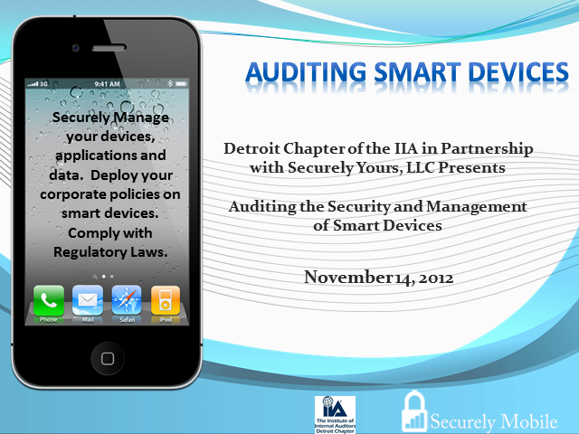 Auditing the Management and Security of Smart Devices Webinar