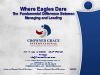 Where Eagles Dare - The Fundamental Difference Between Managing & Leading