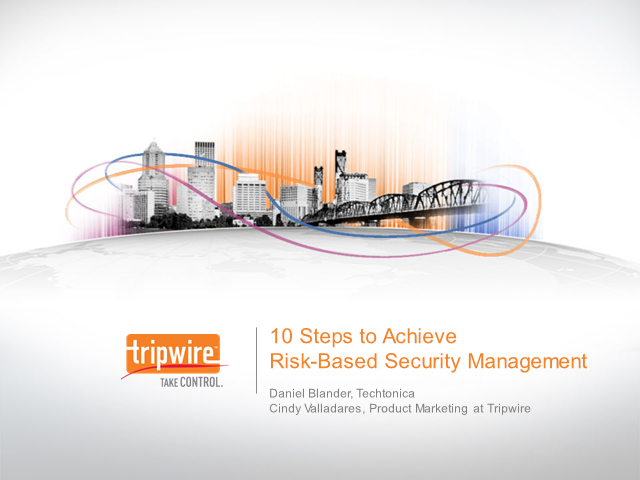 10 Steps to Risk-Based Security Management