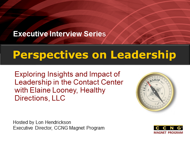 Perspectives on Leadership with Elaine Looney, Healthy Directions