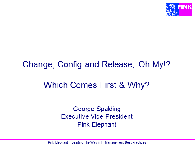 Change, Config & Release, Oh My!? Which Comes First & Why?