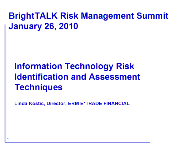 IT Risk Identification and Assessment Techniques