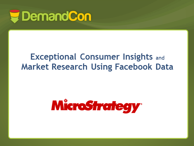Get Exceptional Consumer Insights and Market Research Using Facebook Data