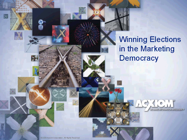 Winning Elections in the Marketing Democracy