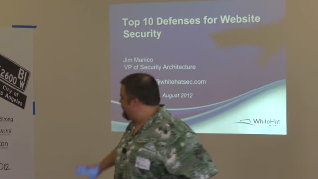 Top Ten Web Application Defenses