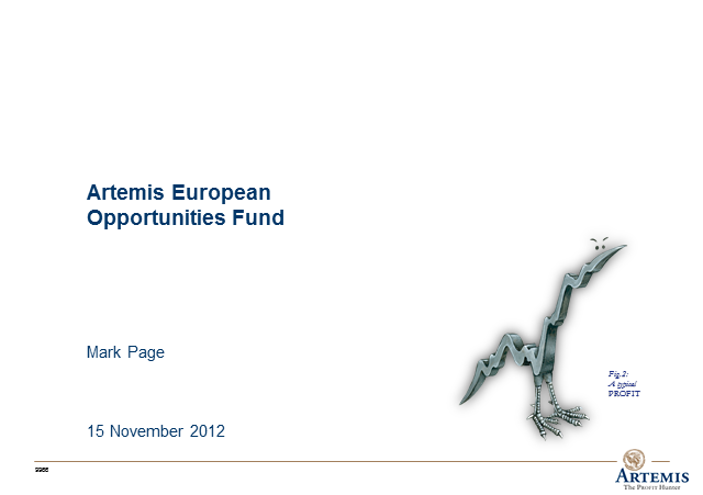 Artemis European Opportunities Fund webcast