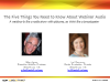 The Five Things You Must Know About Webinar Audio