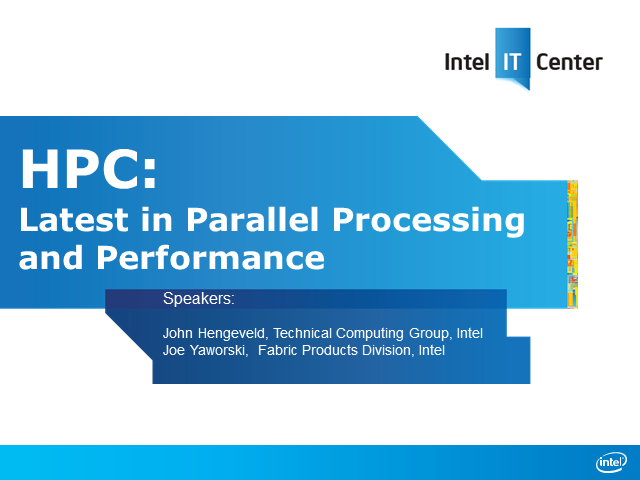 HPC: Latest in Parallel Processing and Performance