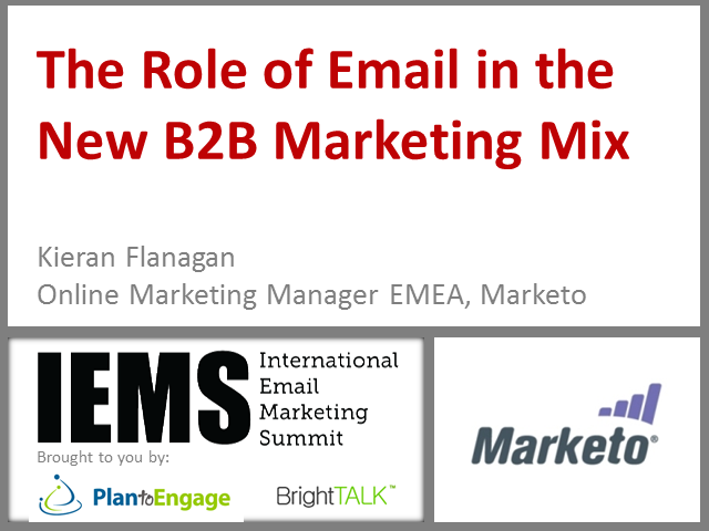 The Role of Email in the New B2B Marketing Mix