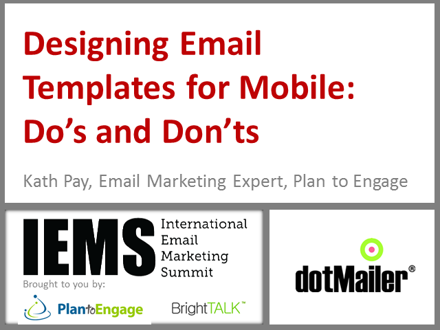 Designing Email Templates for Mobile:  Do's and Don'ts