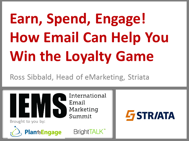 Earn, Spend, Engage! How Email Can Help You with the Loyalty Game