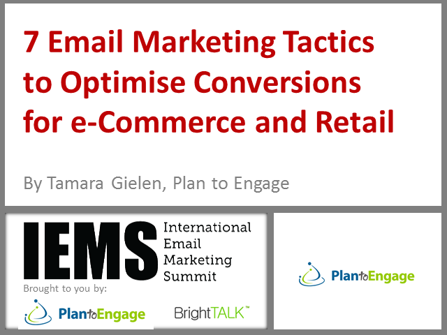 7 Email Marketing Tactics to Optimise Conversions for e-Commerce and Retail