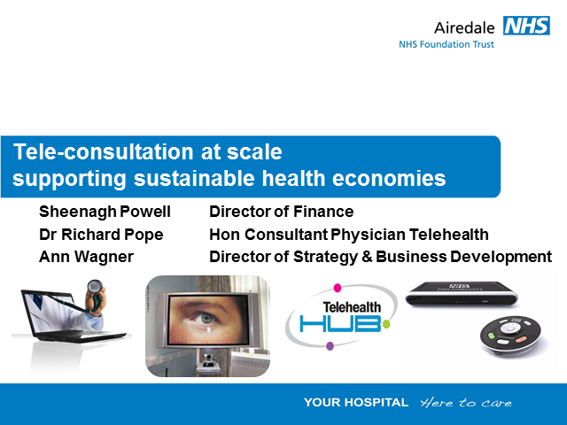 Tele-consultation at scale - supporting sustainable health economies