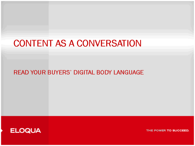 Content as a Conversation:Read your Buyers' Digital Body Language