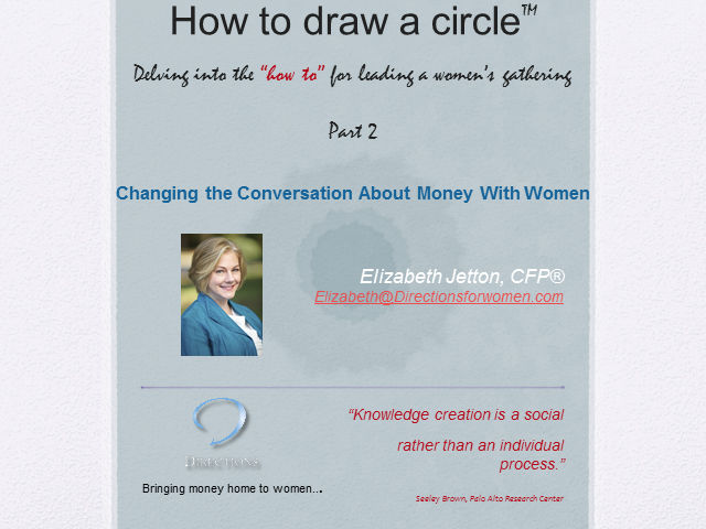 Ideas for Topics for your Circle and Conversation Café: Part 2 of 2