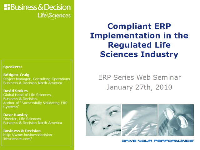 Compliant ERP Implementation in the Life Sciences Industry