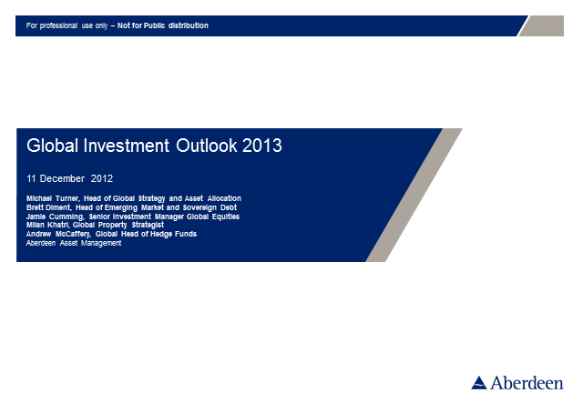 Global Investment Outlook 2013