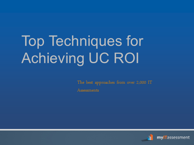 Top Techniques for Achieving UC ROI