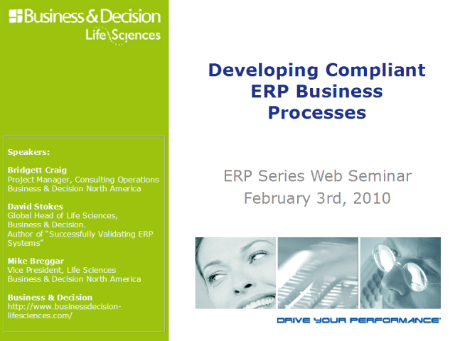 Developing Compliant ERP Business Processes