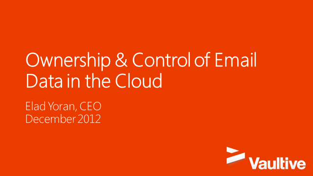 Control Issues: Enterprise Data Ownership and Cloud Provider Security