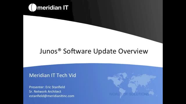 Performing a Junos Software Update Overview