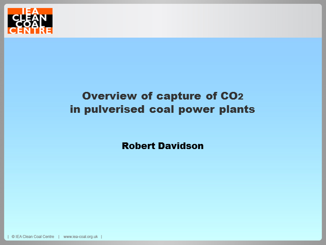 An overview of carbon capture systems