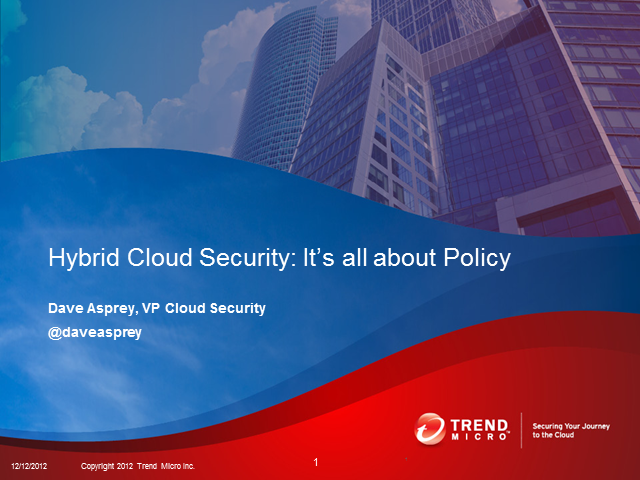 Hybrid Cloud Security Infrastructure: It's All About Policy
