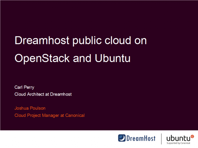 Real life story: DreamHost public cloud on OpenStack & Ubuntu