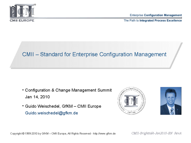 CMII - Standard for Enterprise Configuration Mgmt