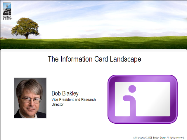 Information Card Landscape