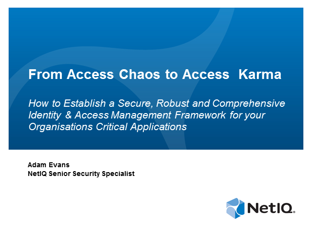 Establishing a Secure IAM Framework for your Business Critical Applications
