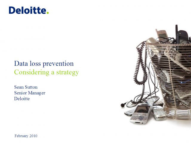 Data Loss Prevention - Considering a Strategy