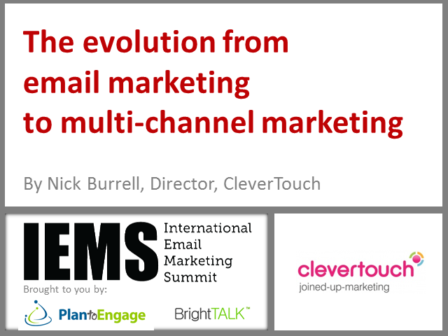 The evolution from email marketing to multi-channel marketing