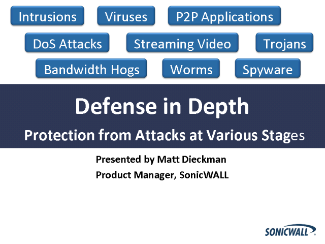 Defense in Depth: Protection from Attacks at Various Stages