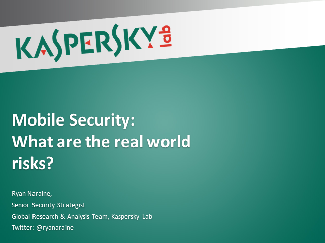 Mobile Security: What Are The Real World Risks?
