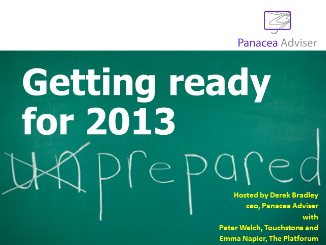 Getting Ready For 2013: Due Diligence