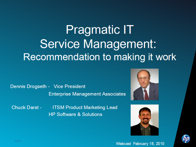 Pragmatic ITSM: Recommendations for making it work