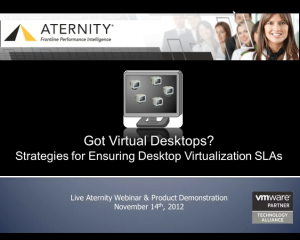 Strategies for Ensuring Desktop Virtualization SLAs