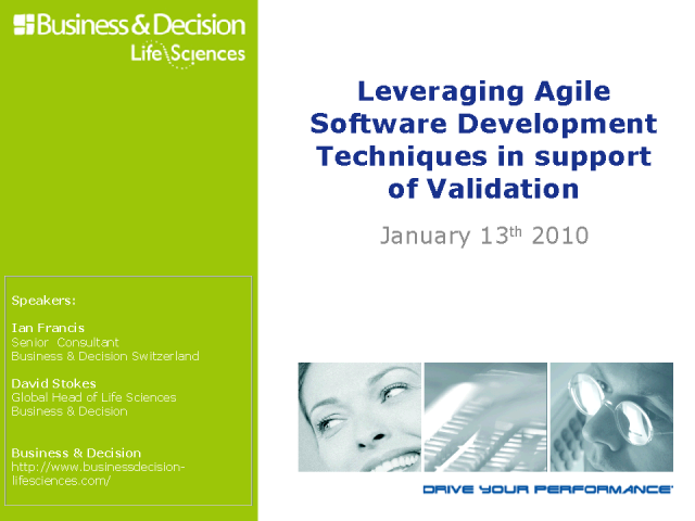 Leveraging Agile Software Development Techniques in Validation