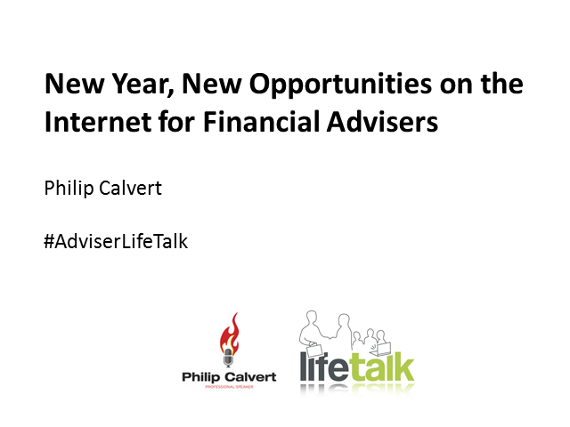 New Year, New Opportunities on the Internet for Financial Advisers