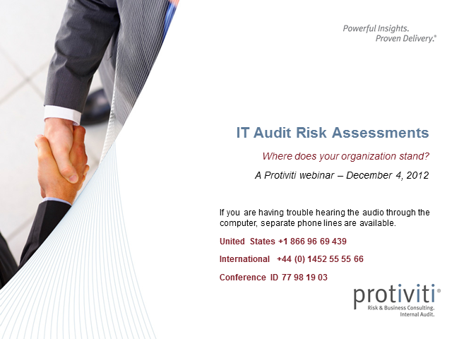 IT Audit Risk Assessments:  Where does your organization stand?